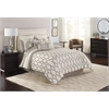 Lynae King 8 pc Comforter Set, Ivory/Taupe
