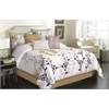 Marianna 7 piece King Comforter Set, Tan/Ivory