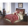 Merrill King 10 pc Comforter Set, Red/Gold