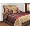 Monarch QN 8 pc Comforter Set, Burg/Mocha