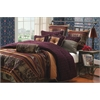 Hallmart Petra 10 pc King Comforter Set, Plum Multi