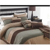 Rexwell 7pc Comforter Set King, Brown/Multi