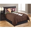 Touchdown 5 pc Twin Comforter Set (*NO SKIRT INCLUDED*), Brown/Green