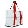 SailorBags Newport Large Tote, white w/red trim