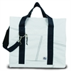 Newport XL Tote, white w/blue trim