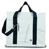 Newport XL Tote, white w/blue trim