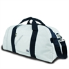 SailorBags Newport Large Square Duffel, white w/blue trim