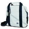 Newport Insulated 12-Pack CoolerBag, white w/blue trim