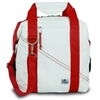 Newport Insulated 12-Pack CoolerBag, white w/red trim