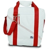 SailorBags Newport Insulated 24-Pack CoolerBag, white w/red trim