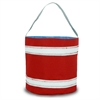 SailorBags Nautical Stripe Bucket Bag, red w/white stripes