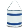 Nautical Stripe Bucket Bag, white w/blue stripes