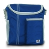 SailorBags Chesapeake Insulated Lunch Bag, blue w/grey trim