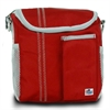 Chesapeake Insulated Lunch Bag, red w/grey trim