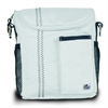 Chesapeake Insulated Lunch Bag, white w/blue trim