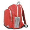 SailorBags Chesapeake Backpack, red w/grey trim