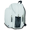 Chesapeake Backpack, white w/blue trim