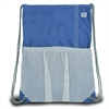 Chesapeake Drawstring Backpack, blue w/grey trim