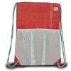 Chesapeake Drawstring Backpack, red w/grey trim