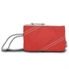 Chesapeake Wristlet, red w/grey trim