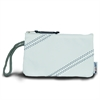 Chesapeake Wristlet, white w/blue trim
