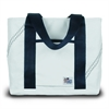 SailorBags Newport Mini Tote, white w/blue trim