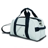Newport Mini Duffel, white w/blue trim