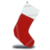 SailorBags Chesapeake Christmas Stocking, red w/white trim