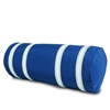 SailorBags Nautical Stripe Bolster Cover, blue w/white stripes