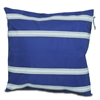 SailorBags Nautical Stripe Pillow Cover, blue w/white stripes