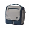 Silver Spinnaker Insulated Soft Lunch Box, silver w/blue trim