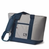 Silver Spinnaker Insulated Cooler Tote, silver w/blue trim
