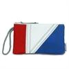 SailorBags Tri-Sail Wristlet, red, white, blue