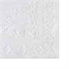 Hoffmaster Classic Embossed Straight Edge Placemats, 10 x 14, White, 1000/Carton