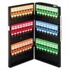 CARL Locking Key Cabinet, 48-Key, Steel, Black, 11 1/2 x 3 x 21 1/4
