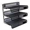 Universal Mesh Three-Tier Desk Shelf, Letter, Black