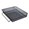 Mesh Stackable Front Load Tray, Letter, Black