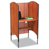 Height-Adjustable Carrel, Laminate, 31w x 30d x 57-1/2 to 69-1/2h, Cherry
