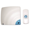 Tatco Wireless Doorbell, Battery Operated, 1-3/8w x 3/4d x 3-1/2h, Bone