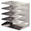 Steelmaster Soho Horizontal Organizer, Letter, Five Tier, Steel, Silver