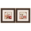 1569 Avian On Red, Pack of 2