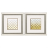 1630 Yellow Lattice, Pack of 2