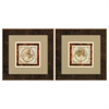 1691 Red Damask Map, Pack of 2