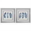 Propac Images 2162 Indigo Feathers, Pack of 2