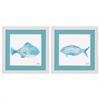 2163 Watercolor Fish, Pack of 2