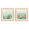 2167 Teal Woods In Gold, Pack of 2
