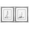 Propac Images 2435 Coastal Boat Sketch, Pack of 2