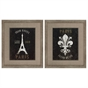 Propac Images 3544 Eiffel Fleur, Pack of 2