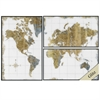 3647 Gilded Map, Pack of 3