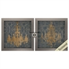 3774 Gilt Chandelier, Pack of 2